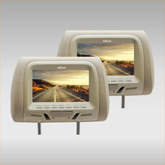 Delicate Car Headrest Monitor , Car Headrest DVD Player 9 Inch Dual Twin Screens